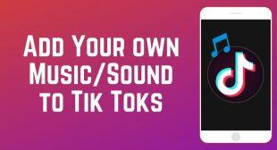 How to Add a Soundtrack in TikTok