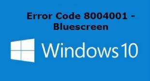 How to Fix the Blue Screen Error Code 80004001