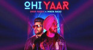Ohi Yaar by Mista Baaz is Out on LyricsBELL.com