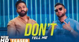 Don't Tell Me Lyrics – Dilpreet Dhillon