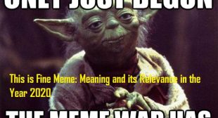 This is Fine Meme: Meaning and its Relevance in the Year 2020 – Office Setup