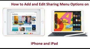 How to Add and Edit Sharing Menu Options on iPhone and iPad