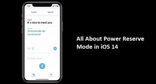 All About Power Reserve Mode in iOS 14