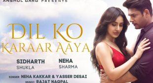 Dil Ko Karaar Aaya Lyrics Sidharth Shukla