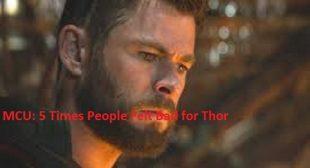 MCU: 5 Times People Felt Bad for Thor – Legit Directory