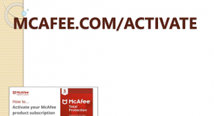 Mcafee.com/activate – Download, install and McAfee activate key